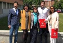 Javier Sáenz Pérez Aradros, Julia Rubio, Maria Dolores Zapata, Ignacio López Mendive y Carla Ovejas