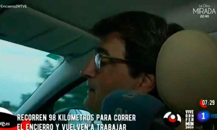 Pedro Eguizabal, en el reportaje de TVE