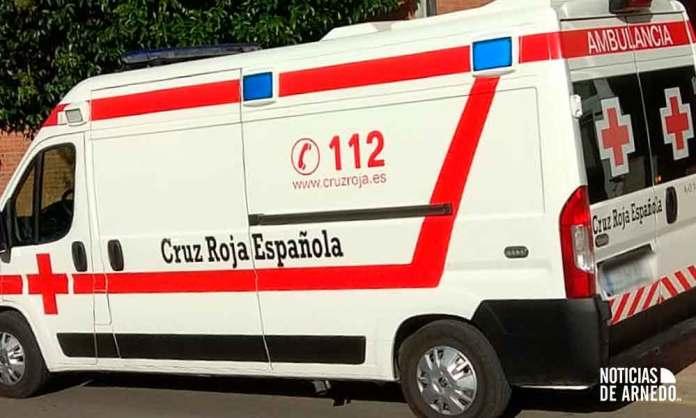 Ambulancia de Cruz Roja en asistencia en el encierro de Arnedo