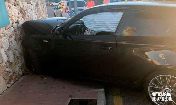 Estado del vehículo accidentado en Punta Prima (Menorca)