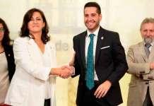 La presidenta del Gobierno de La Rioja, Concha Andreu y Javier García Ibañez, Alcalde de Arnedo