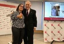 Patricia Rincón Pérez y el presidente de Cruz Roja en La Rioja, Fernando Reinares