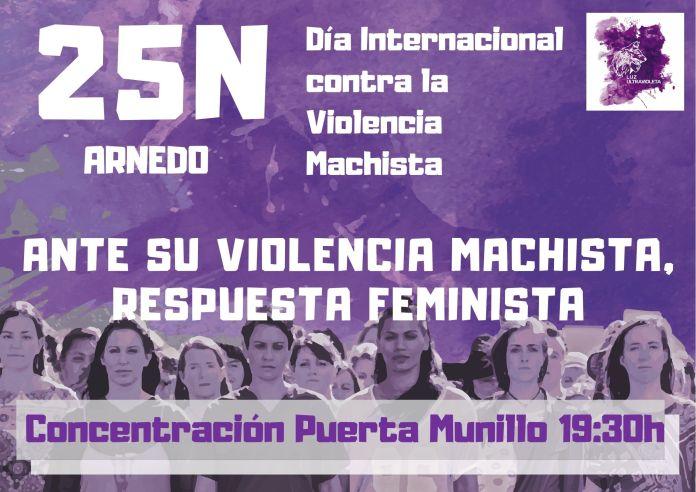 Información, lugar y horario de la concentración contra la violencia machista en Arnedo el 25N de 2019