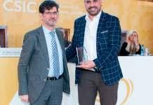 Amadeo Lázaro (Gobierno de La Rioja) y Javier Oñate (CTCR en Arnedo)
