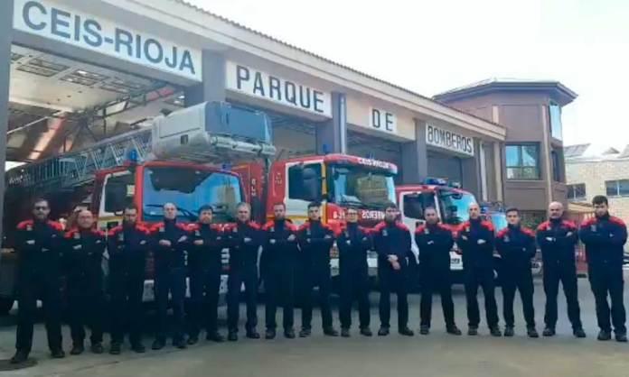 Bomberos del Parque del CEIS Rioja en Arnedo