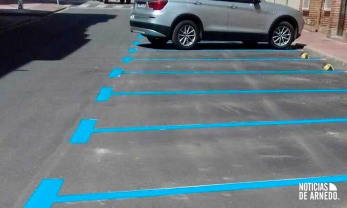 Zona Azul dentro del estacionamiento regulado en Arnedo