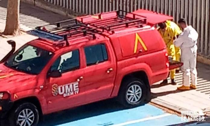 Unidad Militar de Emergencias en la Residencia de Personas Mayores de Arnedo
