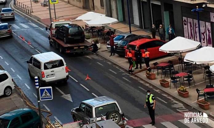 Tráfico regulado en la Avenida Benidorm de Arnedo