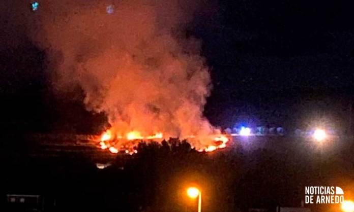Incendio declarado el 1 de octubre cerca del casco urbano de Arnedo