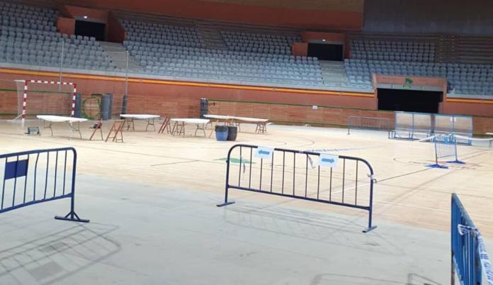 Dispositivo en el interior del Arnedo Arena para el cribado masivo de antígenos