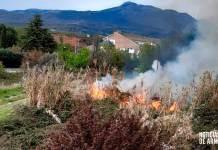 Incendio de vegetación en Avenida del Cidacos de Arnedo