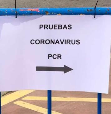 Señalización de pruebas PCR en el entorno del Arnedo Arena