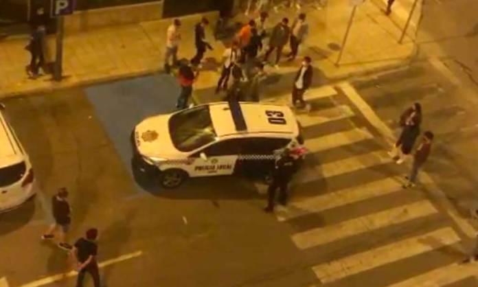 Intervención de la Policía Local en la pelea