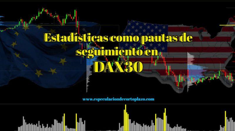 Estadísticas en Dax 30 como pautas de seguimiento