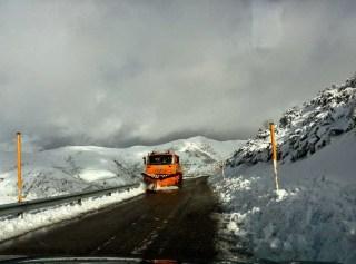 La nieve se deja ver en gran parte de la comarca 5