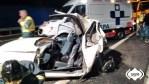 Herida muy grave una mujer en accidente de tráfico en Valdés 1