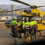 Un herido en la mina de oro de Belmonte