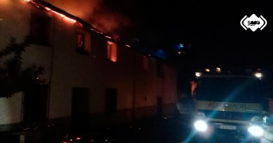 Incendio en una vivienda en Torga