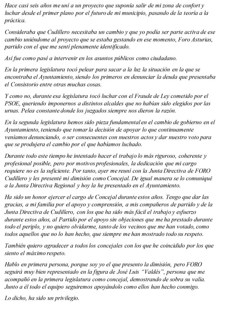 Juan Carragal Foro Cudillero