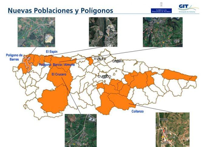 Nuevas poblaciones y polígonos