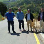 Obras de ampliación de acera en Santa Eulalia de Oscos