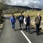 Obras de mejora en caminos de Llaviada, en Boal