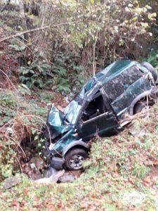 Herido un hombre de 31 años en accidente de tráfico en Brañasivil, en Salas 2
