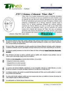 XXII Certamen literario César Feito 1