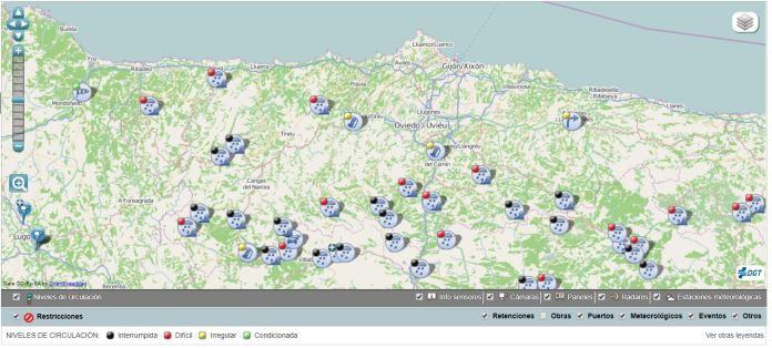 Siete puertos cerrados al tráfico y otros diez con cadenas en el Occidente de Asturias 2