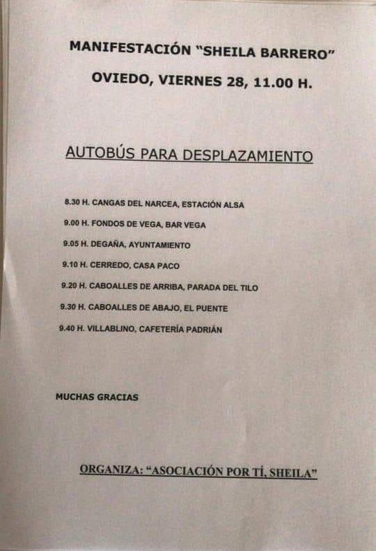 Concentración en Oviedo por el archivo del crimen de Sheila Barrero 1