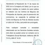 Bando Ayuntamiento de Allande 12/03/2020