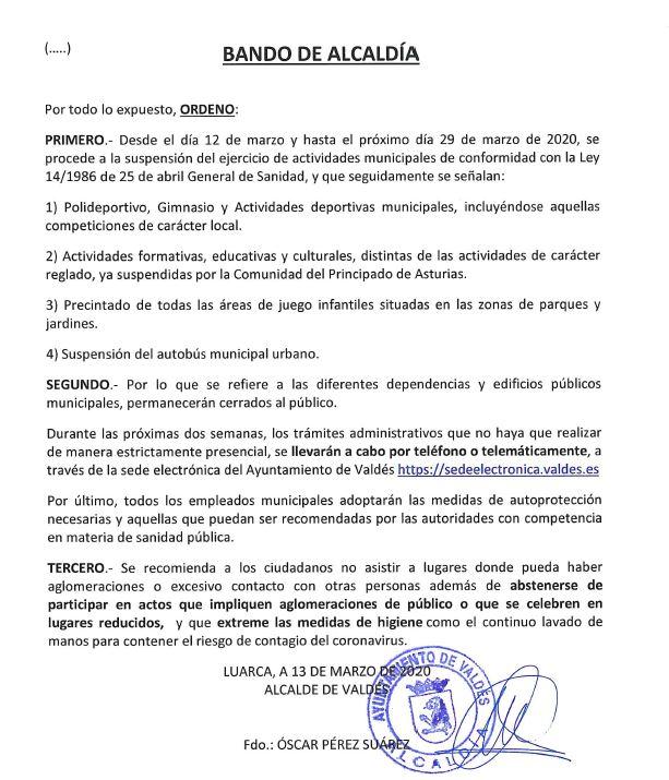 Bando Ayuntamiento Valdés 13/03/2020 3