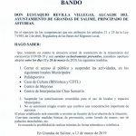 Bando Ayuntamiento Grandas de Salime 12/03/2020