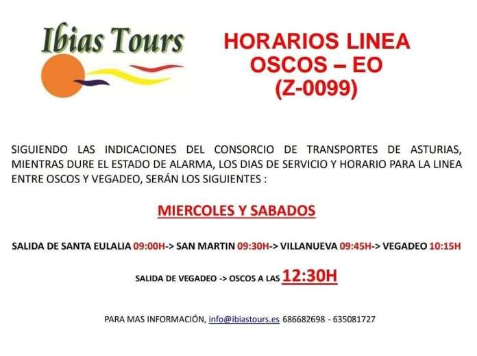 Horarios línea de bus entre Los Oscos y Vegadeo 3