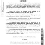 Cierra el consultorio médico de Villanueva, consultas en San Martín