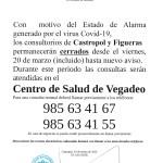 Cierre de consultorios de Castropol y Figueras