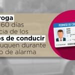 Se prorroga durante 60 días la vigencia de los carnés de conducir