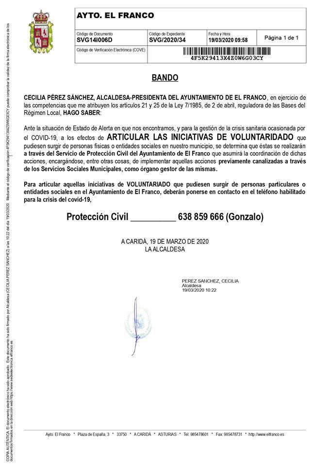 Coordinación del voluntariado en El Franco 3