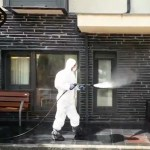 Desinfección en la residencia de mayores de Ibias