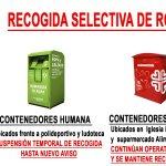 Recogida selectiva de ropa durante el Estado de Alarma en Tapia