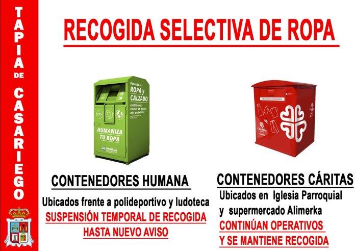 Recogida selectiva de ropa durante el Estado de Alarma en Tapia 3