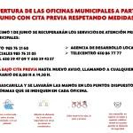 El Ayuntamiento de Belmonte recupera la atención presencial, con cita previa