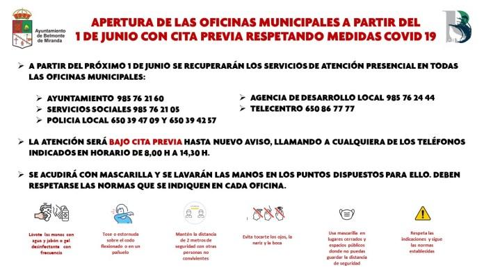 El Ayuntamiento de Belmonte recupera la atención presencial, con cita previa 3