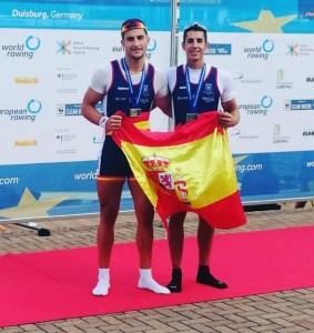 Medalla de bronce para el vegadense Iván Rico en el europeo sub'23 de remo 2