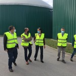 Visita de la viceconsejera de Medio Ambiente a la planta de Biogastur, en Navia