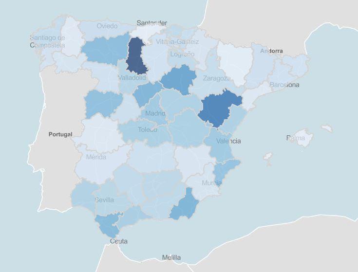 Últimos datos casos coronavirus en España 1