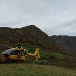 Rescatado en Somiedo un guarda del medio natural que sufrió una caída