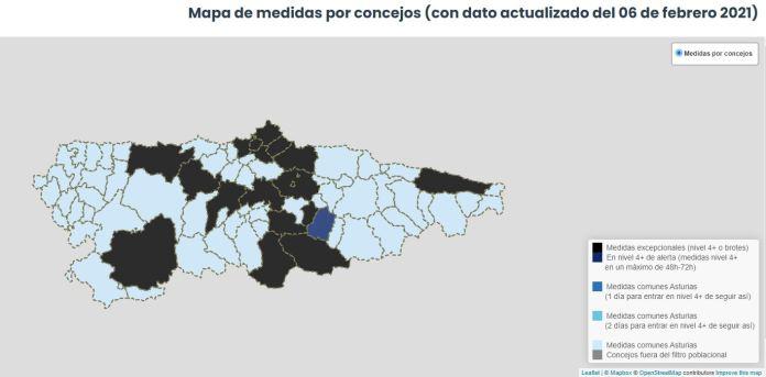 225 nuevos casos de coronavirus en Asturias en la jornada del sábado 3