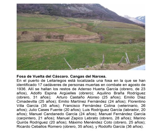 Investigación de fosas comunes en Cangas del Narcea y Somiedo 4
