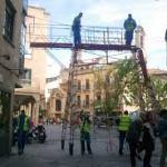 Instalación del cableado luces de Navidad Salamanca 2017/18